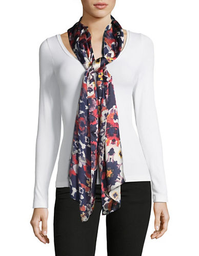 Echo Floral-Print Oblong Scarf-MULTI-One Size