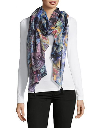 Echo Butterfly and Floral-Print Wrap-MULTI-One Size