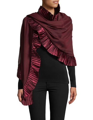 Echo Accordion Pleated Scarf-PORT-One Size
