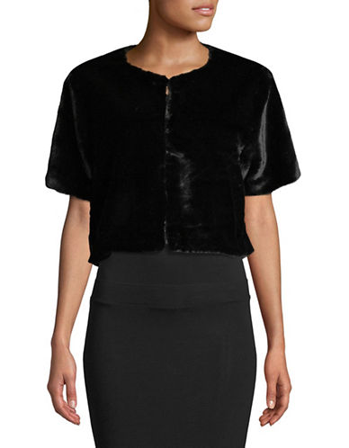Echo Short Sleeve Cropped Jacket-BLACK-Small/Medium