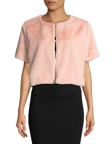 Echo Short Sleeve Cropped Jacket-BLUSH-Medium/Large