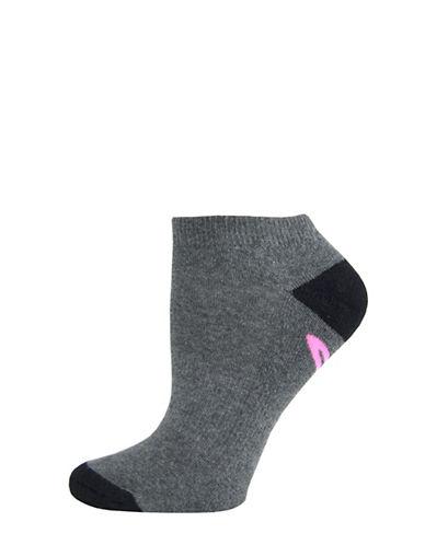 Sockart Current Mood Ankle Socks-GREY-9-11