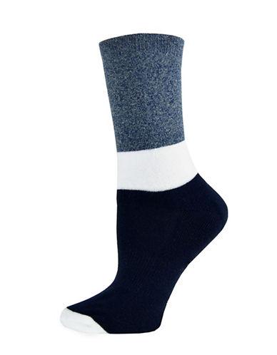Sockart Goals Crew Socks-NAVY-9-11