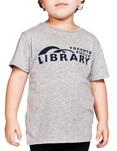 Shared Kids Library Tee-GREY MIX-4-5