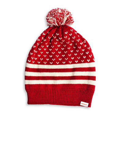 Drake General Store Novelty Pom-Pom Knit Tuque-RED-One Size