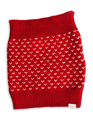 Milton Crawford Knit Snood-RED-One Size