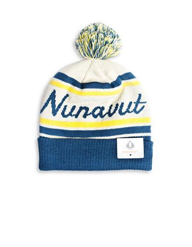 Drake General Store Nunavut Provincial Pom-Pom Knit Tuque-MULTI-One Size