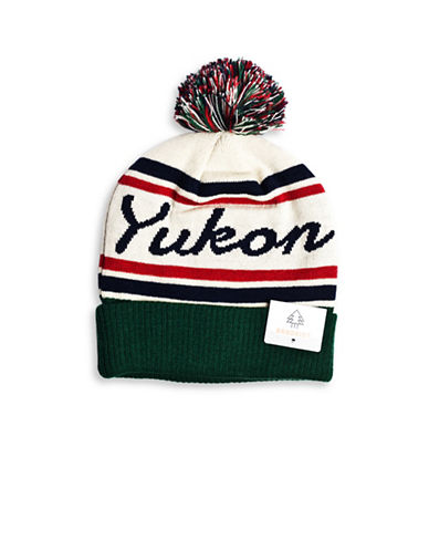 Drake General Store Yukon Provincial Pom-Pom Knit Tuque-MULTI-One Size