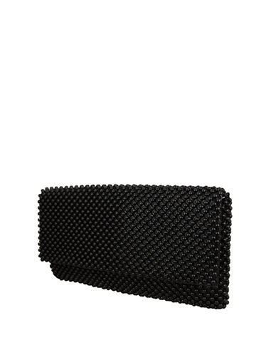 Nina Keiko Ball Mesh Clutch-BLACK-One Size