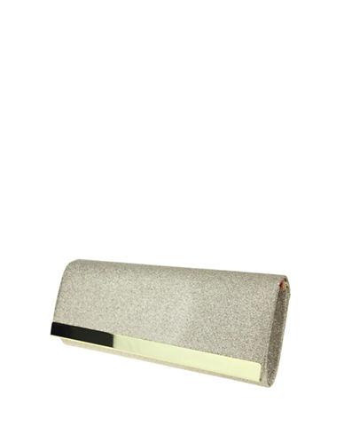 Nina Labella Glitter Clutch-PLATINO-One Size