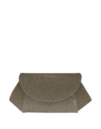 Nina Amitee Glitter Fabric Clutch-CHAMPAGNE-One Size