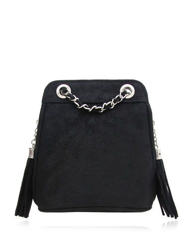 Nina Abriana Suedette Clutch-BLACK-One Size