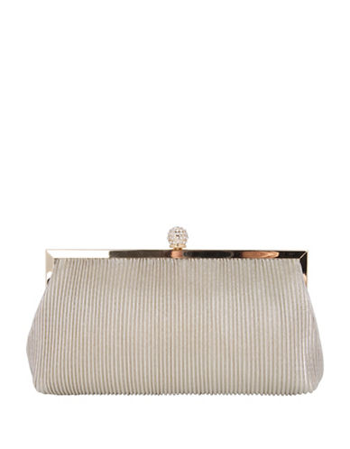 Nina Aneka Textured Clutch-BEIGE-One Size