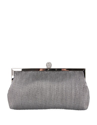 Nina Aneka Textured Clutch-SILVER-One Size