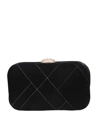 Nina Barlow Mini Clutch-BLACK-One Size