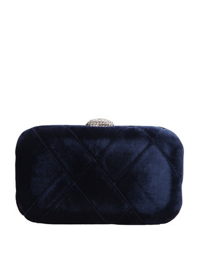 Nina Barlow Mini Clutch-BLUE-One Size