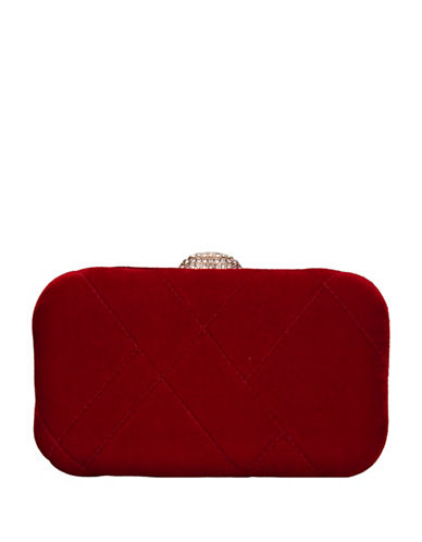 Nina Barlow Mini Clutch-RED-One Size