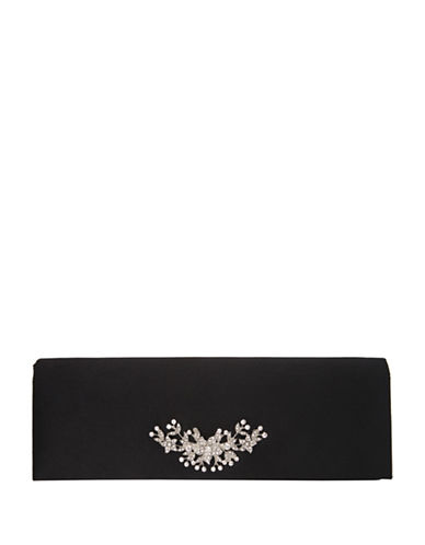 Nina Loran Satin Clutch-BLACK-One Size
