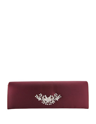 Nina Loran Satin Clutch-RED-One Size