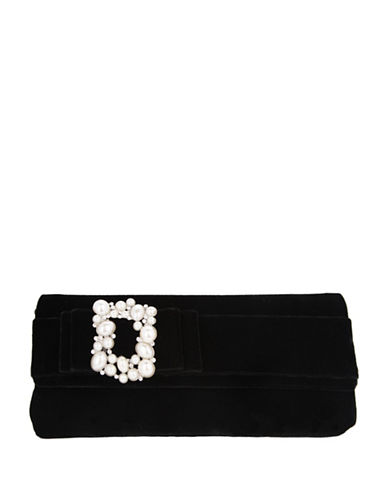 Nina Kalie Bow Front Clutch-BLACK-One Size