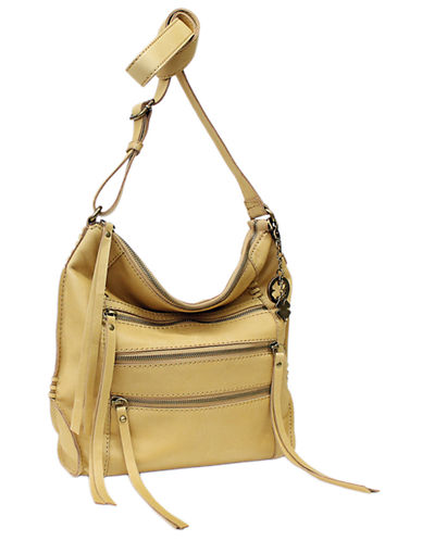 Lucky Brand Shannon Leather Crossbody-SQUASH-One Size