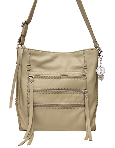 Lucky Brand Shannon Leather Crossbody-WHITE-One Size