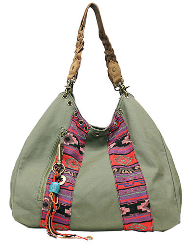 Lucky Brand Mexicali Hobo Bag-GREEN-One Size
