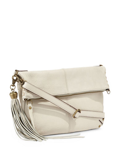 Lucky Brand Del Rey Leather Foldover Bag-VANILLA-One Size