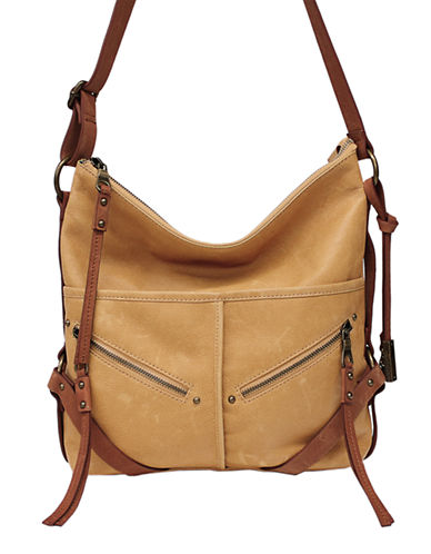 Lucky Brand Delta Leather Crossbody-COGNAC-One Size