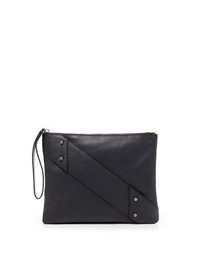 Botkier New York Bristol Leather Pouch-BLACK-One Size