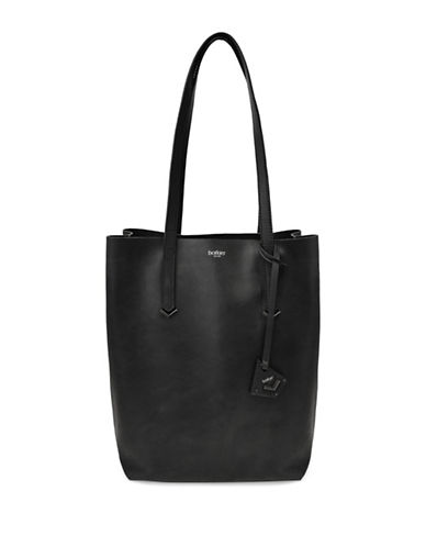 Botkier New York Vessey Leather Tote-BLACK-One Size