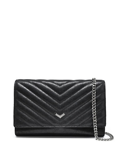 Botkier New York Soho Quilted Purse on a Chain-BLACK-One Size