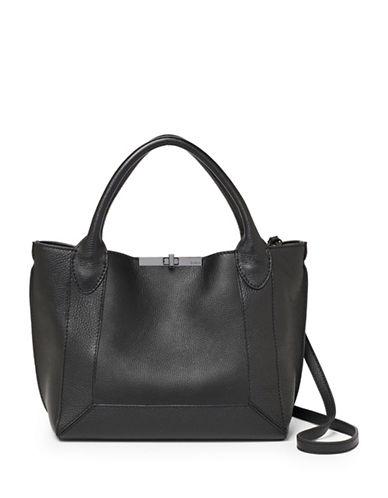 Botkier New York Perry Small Leather Tote-BLACK-One Size