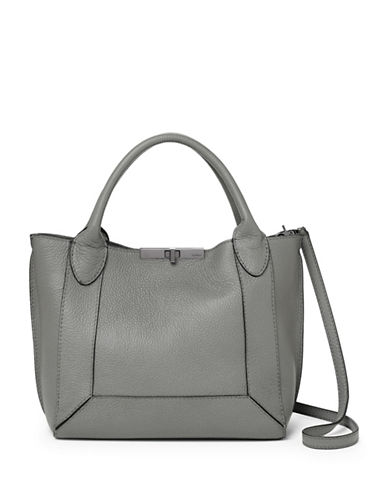 Botkier New York Perry Small Leather Tote-GREY-One Size