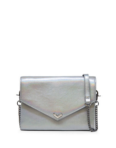 Botkier New York Leather Convertible Clutch-IRIDESCENT-One Size