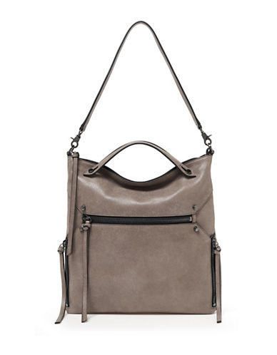 Botkier New York Logan Leather Hobo Bag-BEIGE-One Size