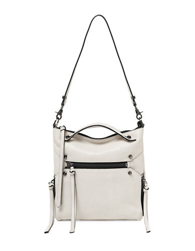 Botkier New York Logan Leather Hobo Bag-IVORY-One Size