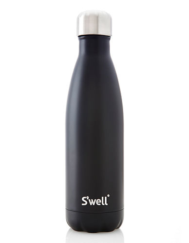 SWell Satin Insulated Water Bottle-BLACK-500 ml