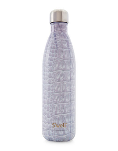 SWell Blanc Crocodile Stainless Steel Bottle-WHITE-One Size