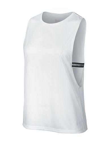 Nike Dri-FIT Elastika Biker Tank Top-WHITE-Small 88405202_WHITE_Small