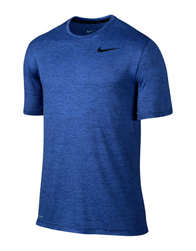 Nike Dry Training Heathered T-Shirt-DEEP ROYAL-Large 88798075_DEEP ROYAL_Large