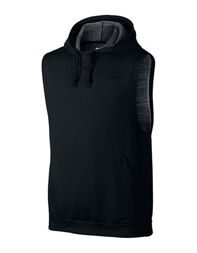 08ed099bfdddf UPC 640135551239 product image for Nike Sleeveless Dri-FIT Hoodie-BLACK- Medium ...
