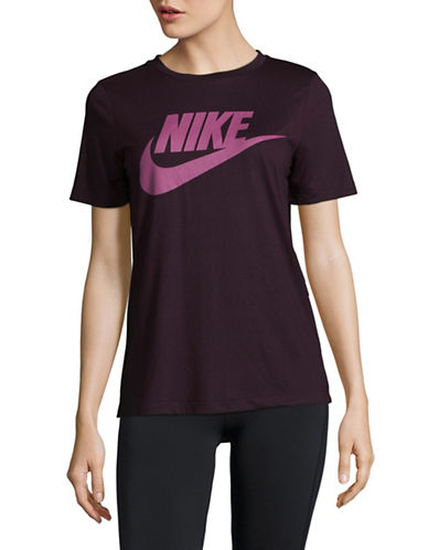 Nike Graphic Contrast Logo Tee-PINK-Large