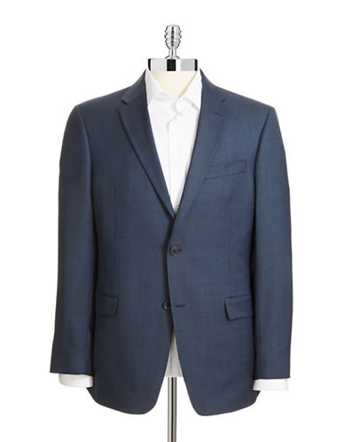 Tommy Hilfiger Modern Fit Suit Separate Jacket-BLUE-42 Tall