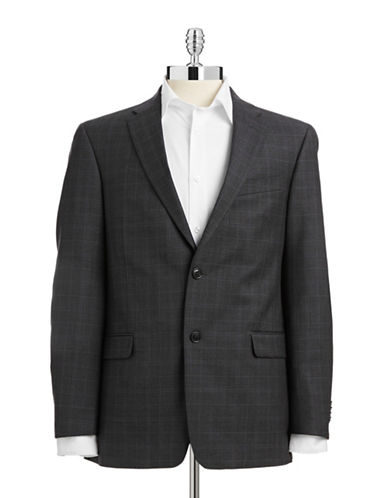 Tommy Hilfiger Check Sport Coat-GREY-36 Regular
