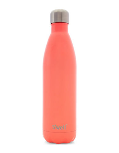 SWell Birds of Paradise Stainless Steel Water Bottle-ORANGE-One Size