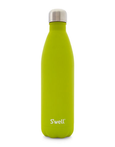 SWell Peridot Quartz Stainless Steel Bottle-GREEN-One Size