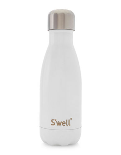 SWell Angel Food Shimmer Stainless Steel Bottle-WHITE-One Size