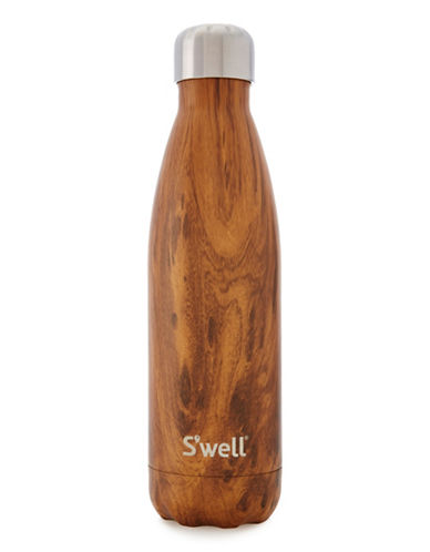 SWell Teakwood Insulated Water Bottle-BROWN-0.75 L