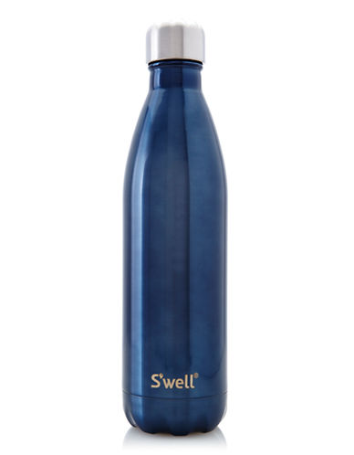 SWell Shimmer Insulated Water Bottle-BLUE SUEDE-0.75 L